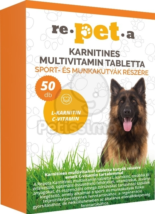 7fdea6834b Repeta karnitines multivitamin tabletta sport-és munkakutyáknak ...