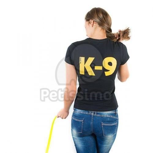 ... Julius-K9 női V-nyakú rövid ujjú póló - fekete adb3c16edd