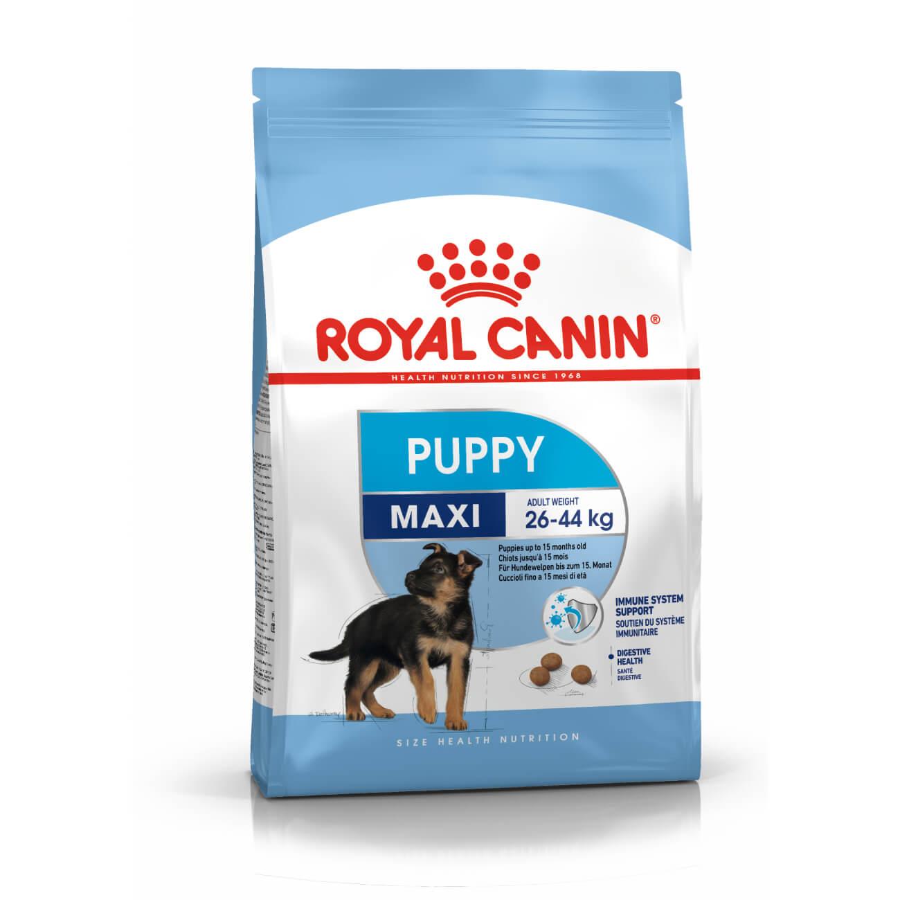 Royal Canin Maxi Puppy - nagytestű kölyök kutya száraz táp 15 kg (13 kg + 2 kg ajándék)
