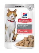 Hill's Science Plan Young Adult Sterilised mokra mačja hrana, losos 12 x 85 g