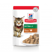 Hill's Science Plan Kitten mačja hrana, puran - v vrečki 12 x 85 g