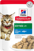 Hill's Science Plan Kitten mačja hrana, riba - v vrečki 12 x 85 g