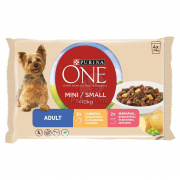 Purina ONE Mini Adult Nassfutter für Hunde 4 x 100 g