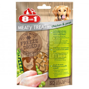 8in1 Freeze Dried Meaty Treats s kuřecím a hráškem 50 g