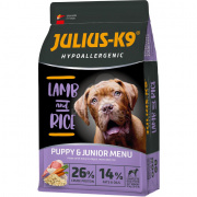 Julius-K9 Hypoallergenic Puppy & Junior - Lamb & Rice 12 kg