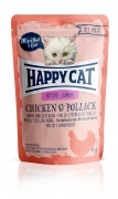Happy Cat All Meat Kitten/Junior Huhn und Seelachs 24 x 85 g