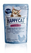 Happy Cat All Meat Adult Sterilised Huhn und Forelle 24 x 85 g
