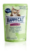 Happy Cat All Meat Adult Sterilised Kalb und Lamm 24 x 85 g