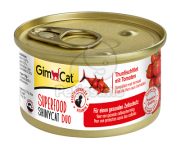 GimCat Superfood ShinyCat Duo Thunfischfilet mit Tomaten 70 g